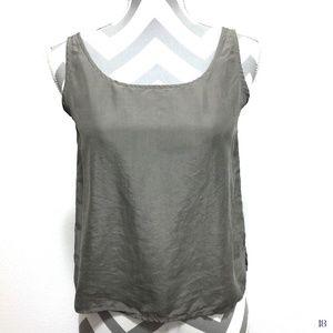 Eileen Fisher Brown Silk Tank Top Size XS